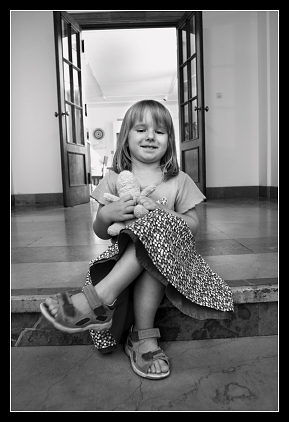 Nowa Huta - Dziewczynka w muzeum